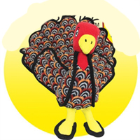 Thanksgiving Turkey Pet Toy