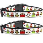 Santa-Owls-Nylon-Ribbon-Collars-N-Leads