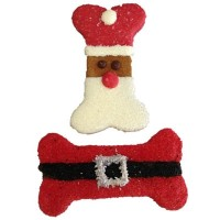 Santa Belt n Face dog treats