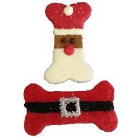 Santa Belt n Face dog treats