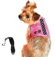 Sunglasses-Pink-and-Black-Cool-Mesh-Velcro-Harnesses-with-Matching-Leash-l