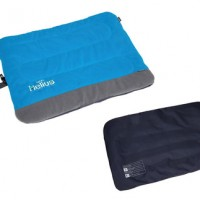 Polar Fleece Outdoor Travel Folding Dog Bed Blue