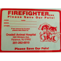 Practice Fire Safety Basics for Pets with On Door Note