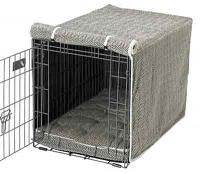 Herringbone (oyster) Microvelvet Luxury Crate Cover