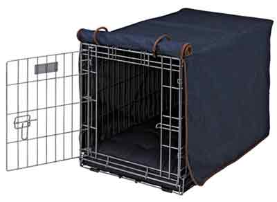 Denim Cotton Luxury Pet Crate Cover