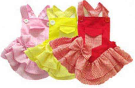 Dog's Dresses with Mini Pocket
