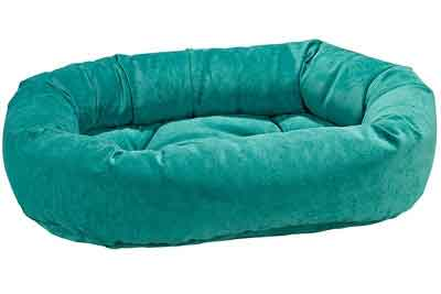 Emerald Microvelvet Donut Dog Bed