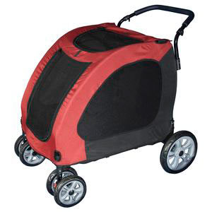 Burgundy Pet Stroller Up To 150 LBS