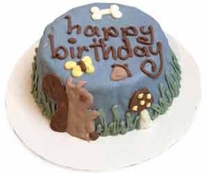 Real Organic Birthday Dog Cake Woodland Squirrel