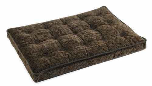 Chocolate Bones Microvelvet Luxury Dog Crate Mattress