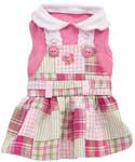 Ashley Pink Plaid Dog Dresses