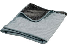 Blue Bayou and Grey Teddy  Plush Pet Throw