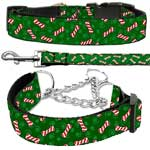 Cat and Dog Candy Cane Bones Collars