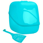 Innovative Cat Litter Box N' Scoop Turquoise