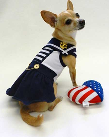 Blue Sailor Pup Dresses