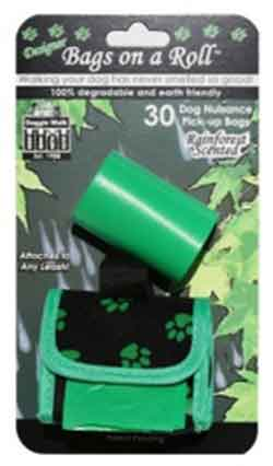 Classic Green Pouch and 2 Scented Pick-Up Rolls