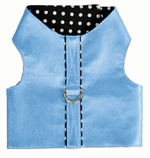 Blue Pearl Polka Dot Dog Vest Harness