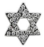 "3/8"" 10mm Slider Charms Star of David"