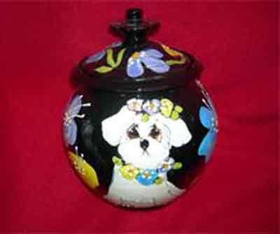 Customized Round Ceramic Pet Urns