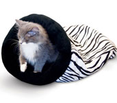 Self-Warming Zebra Kitty Sack