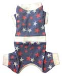 Star Struck thermal Snuggle Dog Suit Blue
