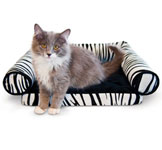Orthopedic Zebra Print Small Pet Lounger