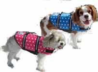 Designer Dog Life Jacket Pink or Blue Polka Dot
